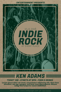 old Indie Rock Music Flyer Template