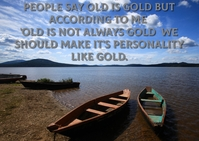 OLD IS GOLD QUOTE TEMPLATE A6