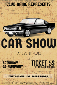 Superior Old Retro Vintage Car Show Flyer Template