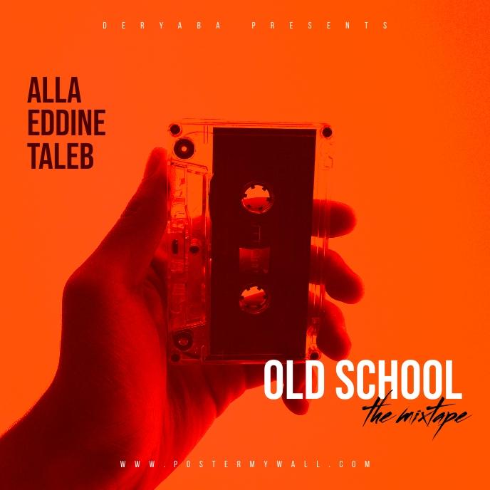 Old School Cassette Retro Mixtape Cover Albumcover template