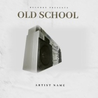 OLD SCHOOL Mixtape Cover Art Template