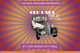 old vintage cars car show poster template