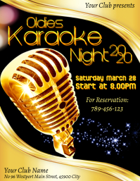Oldies Karaoke Night Poster