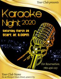 Oldies Karaoke Night Poster