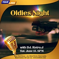 Oldies night design template