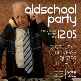 oldschool party retro oldies event music funny grandpa dj