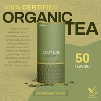 Olive Green Organic Tea Ad Instagram Image template