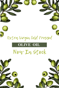 Olive Oil Poster Template