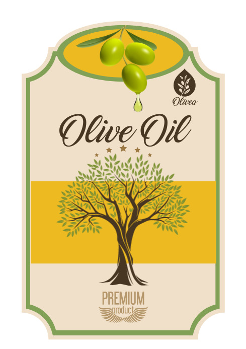 Olive Oil Product Label A4 template