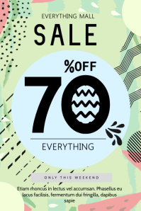 Olive Type Sale Poster