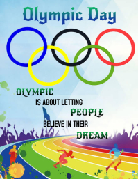 Olympic Day Flyer (US Letter) template