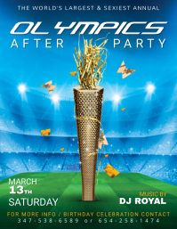 Olympics After Party Flyer Template