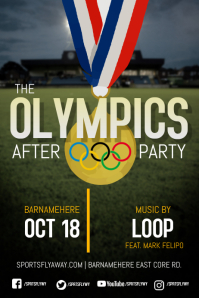 Olympics After Party Flyer Tempate