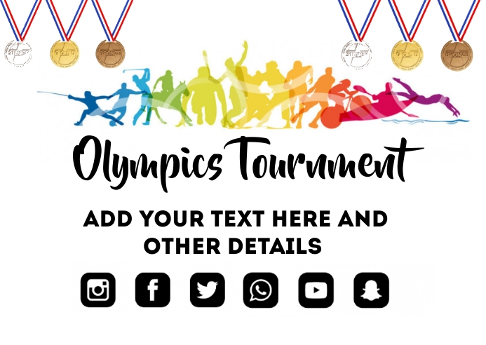 Olympics Poster template