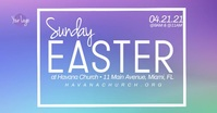 Ombre Church Easter Service Special Guest Ev Facebook Event Cover template