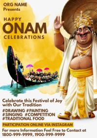 Onam Celebrations Promo Template A4