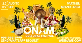 Onam Cultural Festival Template Facebook Shared Image