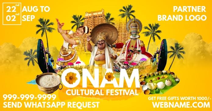 Onam Cultural Festival Template delt Facebook-billede