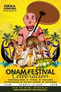 Onam Festival Celebration 2021 Template Plakkaat