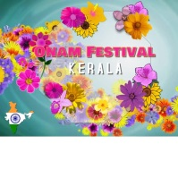 Onam festival/happy onam/India/flowers Instagram Post template