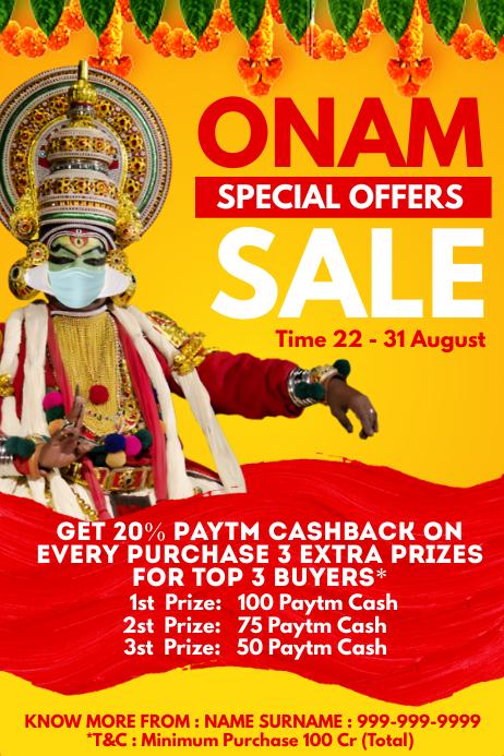 Onam Sale Offer Promo Template Poster