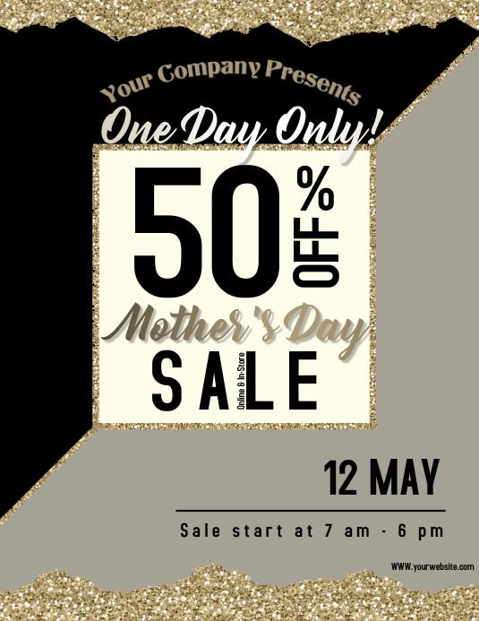 04af2221c Plantilla de Un Solo Día, Día de La Madre, Tienda, Venta.   PosterMyWall