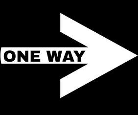ONE WAY SIGN TEMPLATE Large Rectangle