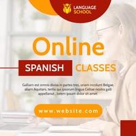 onine spanish classes generic instagram post template