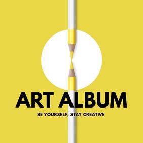 online art album design template yellow white