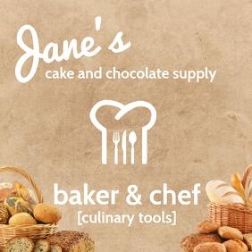 Online Baker & Chef Template Persegi (1:1)