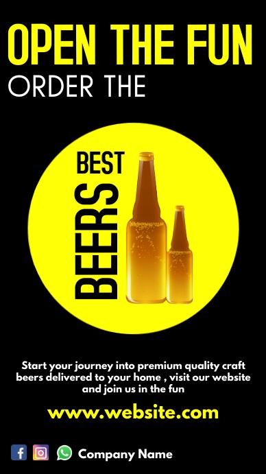 online beer shop advertisement whatsapp template