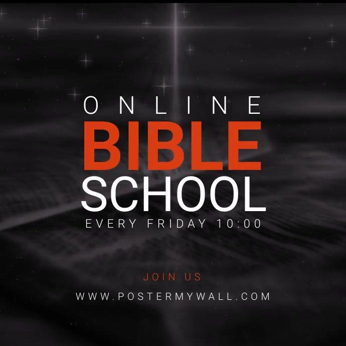 Online Bible School Social Media banner 方形(1:1) template