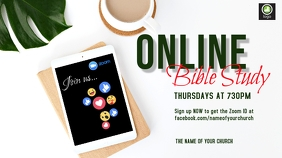 Online Bible Study Digitalt display (16:9) template