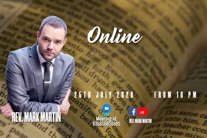 Online Bible Study Plakkaat template