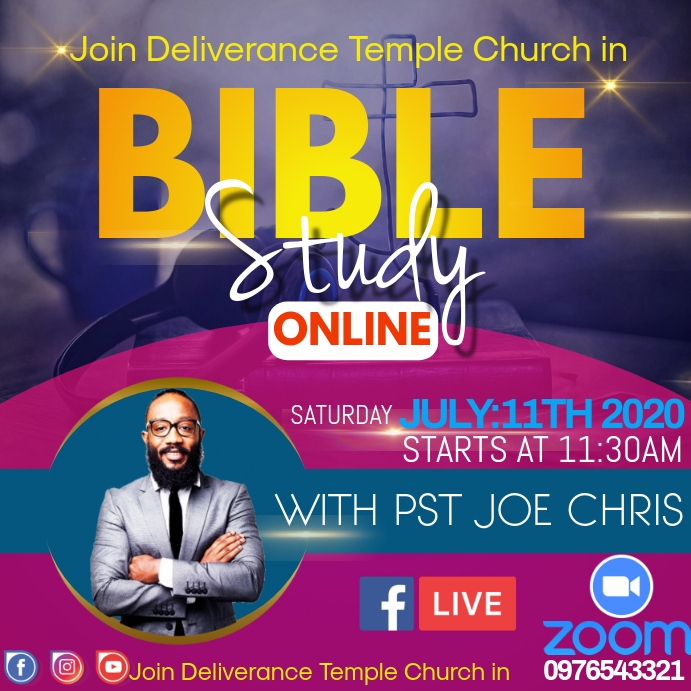 ONLINE BIBLE STUDY Instagram 帖子 template
