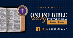 online bible study Facebook Shared Image template