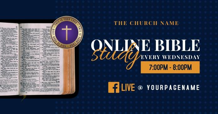 online bible study Imagen Compartida en Facebook template
