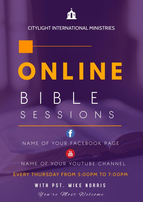 online bible study A3 template