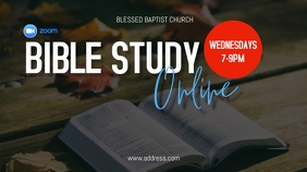 Online Bible Study Ecrã digital (16:9) template
