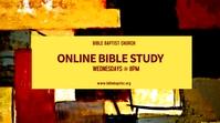 Online Bible Study Ecrã digital (16:9) template