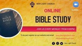 Online Bible Study Digital na Display (16:9) template