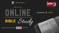 Online Bible Study Twitch Banner template