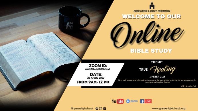 Online Bible Study Ekran reklamowy (16:9) template