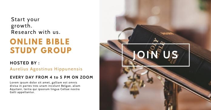 online bible study facebook advertising template