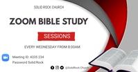 Online Bible study flyer Imagen Compartida en Facebook template