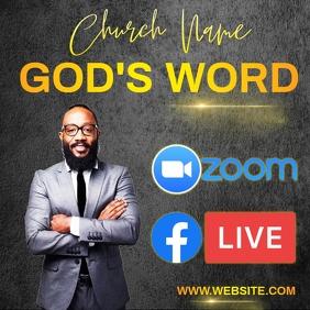 ONLINE BIBLE STUDY Instagram post template Logo