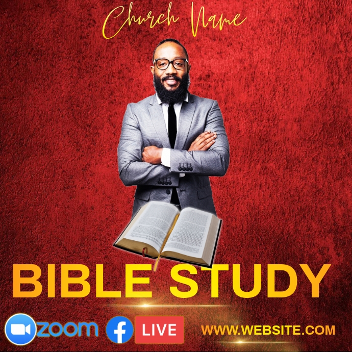 ONLINE BIBLE STUDY Instagram post template 徽标