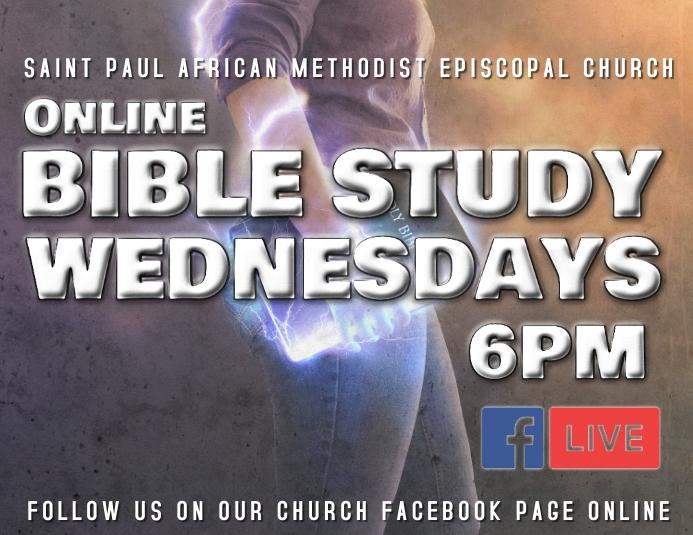 Online bible study stream live Flyer