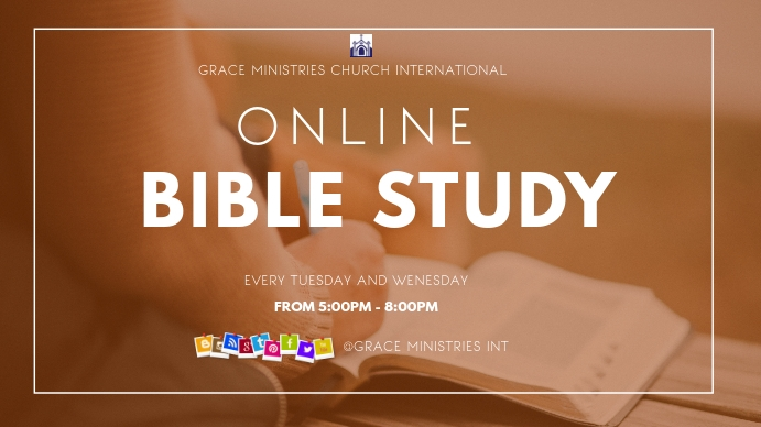 Online Bible Study Template Postermywall
