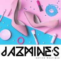 Online Boutique Logo Pink Fashion template